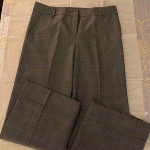 Loft Windowpane black/white plaid trousers 14 Ann